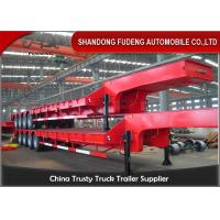 Quality 4 Axles Low Bed Trucks 100Tons 3 Axles Lowbed Trailers Mechanical Suspension And Air Suspension wholesale
