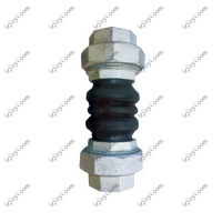 China Floating flange double spherical flexible bellow threaded rubber expansion joints for sale