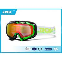 Buy cheap Water Transfer Printing UV Protective Motorcycle Goggles Profession PC Red from wholesalers