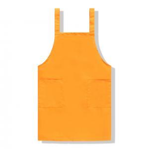 Best 2021 Hot Selling Custom Logo Orange Color  For Cooking Shoulders Apron wholesale