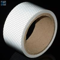 Best Light 2 Inch White Reflective Tape For VehiclesDOT C2 Glass Beads Pressure Sensitive Type wholesale