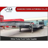 Quality 4 axles low bed semi trailer low loader 80 ton trucks and trailers wholesale
