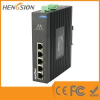 Quality Din Rail Unmanaged Ethernet Gigabit 5 Port Network Switch  1Gbps 0.9Mpps wholesale