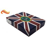 Best UK Flag Top and Base Handmade Wallet Apparel Gift Boxes , Customized 1200g Rigid Board Packaging Boxes wholesale