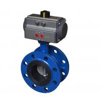 Best Flange Connection Ball Valve Pneumatic Actuator Aluminium Alloy Material CE Approved wholesale