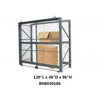 China Heavy Duty Steel Pallet Rack Security Cage Systems 10'*4' *8' High Sliding Door Type on sale