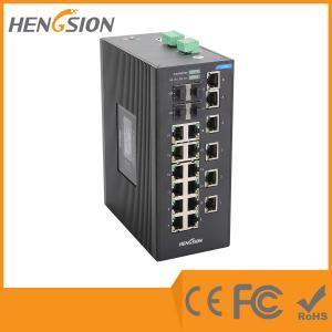 Quality 18 Port Industrial managed ethernet switch , 4 SFP Gigabit fiber network switch wholesale