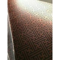 304 Hairline Bronze Stainless Steel Plate Copper Plating Sheet Brass Color for sale