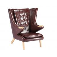 Best Living Room Leather Lounge Chair / Papa Bear Chair Soft Feeling With Ottoman wholesale