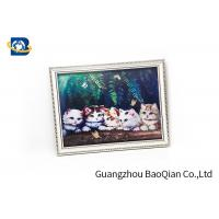 House Wall Printing 3D Lenticular Pictures Cute Cat / Panda Animal Flip Image for sale