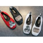 China Cowhide Material Slip On Ballet Shoes for sale