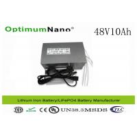 Best CE / ISO / MSDS LiFePO4 Electric Bike Lithium Battery ,  48V 10Ah E Bike Battery Replacement wholesale