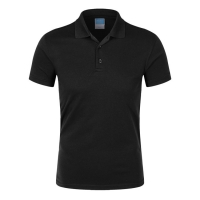 Buy cheap Custom Style Casual Plain Short Sleeve black Golf Men Polo T Shirts cotton from wholesalers