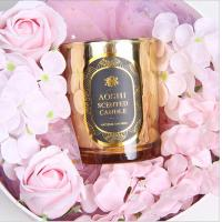 Best Gold Glass Jar Room Scented Candles Electroplated Luxury Scented Candle wholesale