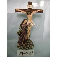 Best Religious Polyresin Figurine Matte Finish With Jesus On Cross 12 Inches wholesale