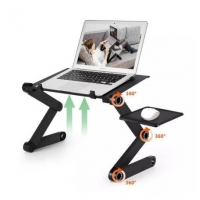 China Cxfhgy Two Fan Laptop Desks Portable Adjustable Foldable Laptop Notebook Lap PC Folding Desk Table Vented Stand Bed Tray for sale