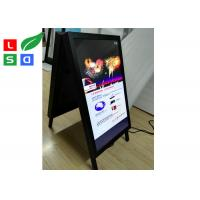 Best Double Side Folded Outdoor LCD Signs A Shaped Board For Pavement Street Sign wholesale
