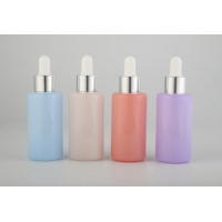 China hot selling colorful 50g 30g Essential Oil Glass Essential Oil Bottles Dropper Sealing for sale