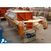 Best PP Plate Chamber Filter Press For Polished Terrazzo Tiles Wastewater Treatment wholesale