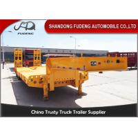 Quality 60ton 70 ton low bed semi trailer lowboy trailer for tractor truck head wholesale