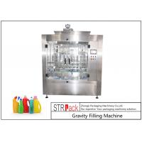 Cheap Touch Screen Control Automatic Liquid Filling Machine , Time Gravity Liquid Filling Equipment for sale
