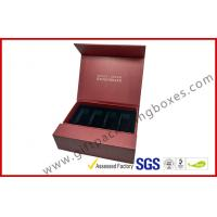 Buy cheap Creative red color magnet gift packaging box with gold foil , EVA foam with black velet from wholesalers
