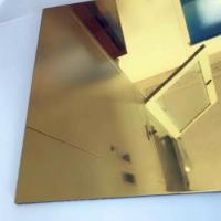 Best Thickness 0.3mm Aluminium Mirror Sheet 87% Reflective Data For Lighting Industry wholesale