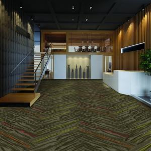 Best Multiple Design Modern Carpet Tiles Solution Dyed Method Special Size 100 Cm X 25 Cm wholesale