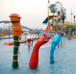Quality Customized Carp Carton Spray Park Aqua Park Equipment For Children / Kids Fun wholesale