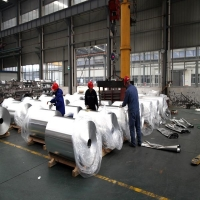Silvery 5052 1400mm Color Coated Aluminum Coil for sale