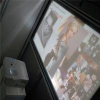 Quality High Contrast 3D Holographic Display Gray Rear Projection Film For Window Advertising wholesale