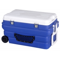 90L Large Plastic Cooler Box With Handle 110L 170 Blue Color Fishing Box Vaccine Storage Tank for sale