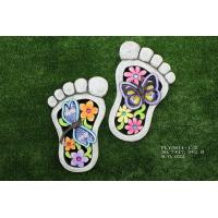 Best Foot Shaped Ceramic Garden Decorations , Outdoor Lovely Cement Stepping Stone wholesale
