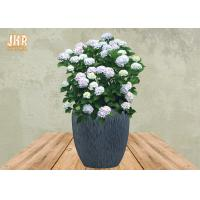 Best Clay Garden Pots Large Fiberclay Plant Pots Outdoor Clay Planters Painted Flower Pots Gray Color wholesale