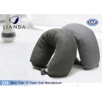 Quality Gray Microbeads Car Neck Rest Pillow With Lycra Cover , 100% Polyester Materials wholesale