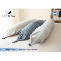 Quality U Shape Memory Foam Pillows / Travel Microbead Neck Pillow With Lycra Cover wholesale