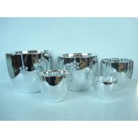 Best Silver Electroplated Ceramic Flower Pots For Plants Indoor 15.1 X 15.1 X 14.5 Cm wholesale