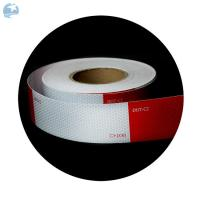 "Best High Intensity DOT Reflective Tape , Red And White Reflective Tape For Trucks Trailers 6"" wholesale"