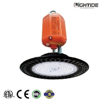 China Lightide 150w UFO High Bay Battery Powered Led Lights, IP65 Rated, 100-277vac, 5 Yrs Warranty for sale