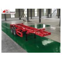 Best Leaf Spring Type 40 Ft Low Bed Trailer , 40 Foot Triple Axle Trailer For Truck wholesale