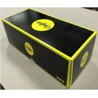 Best Lid And Base Cardboard Shoe Boxes Black Yellow Easy To Disassemble Customized wholesale