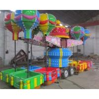 Best 32 Seats Trailer Mounted Rides With Colorful Balloons And Beautiful Cabins wholesale