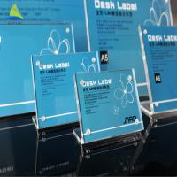 Best High Quality Pure Life Frames Acrylic L Shape Sign Display Holder wholesale