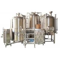 Buy cheap Customized Stainless Steel 3 Vessel Brewhouse With 50-100mm PU Insulation from wholesalers