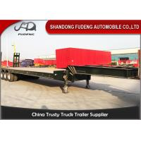 Quality Four Axle 100 Ton Lowboy Semi Trailer Construction Equipment Carrier wholesale