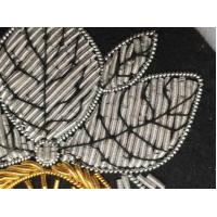 Bullion Wire Embroidered Badges / Bullion Crests Badges For Hat And Garment