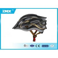 Buy cheap Black EPS + PC cool adult bike helmets for mountain road bicycle riding from wholesalers