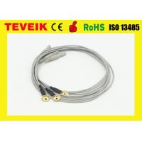 Best Reusable EEG Cup Electrode Cable, Gold Plated Copper , TPU Material wholesale