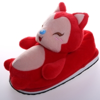 China 30cm Pink Red Fox Plush Soft Cartoon Slippers Plush Home Decor for sale