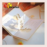 Best 3D Pop Up Greeting Cards or wedding card custom with gold stamp invitations wholesale